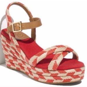 NEW Tory Burch Espadrille Wedges